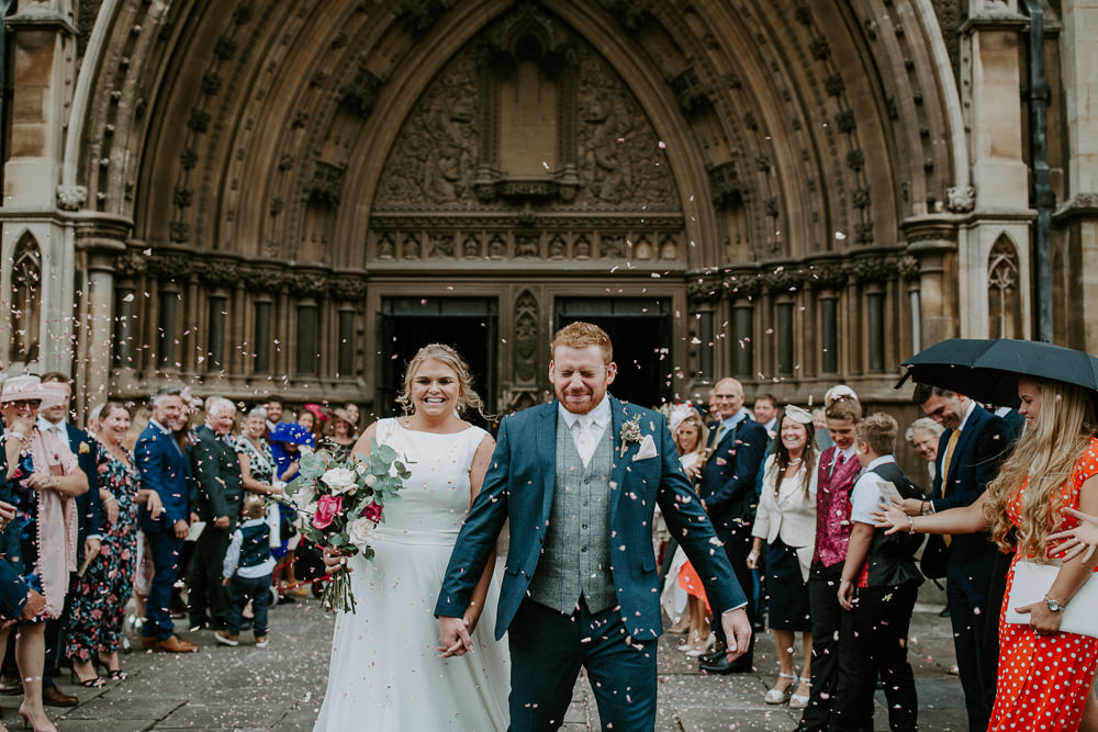 Confetti Throw City Cathedral Country Marquee Wedding Siobhan Beales Photography