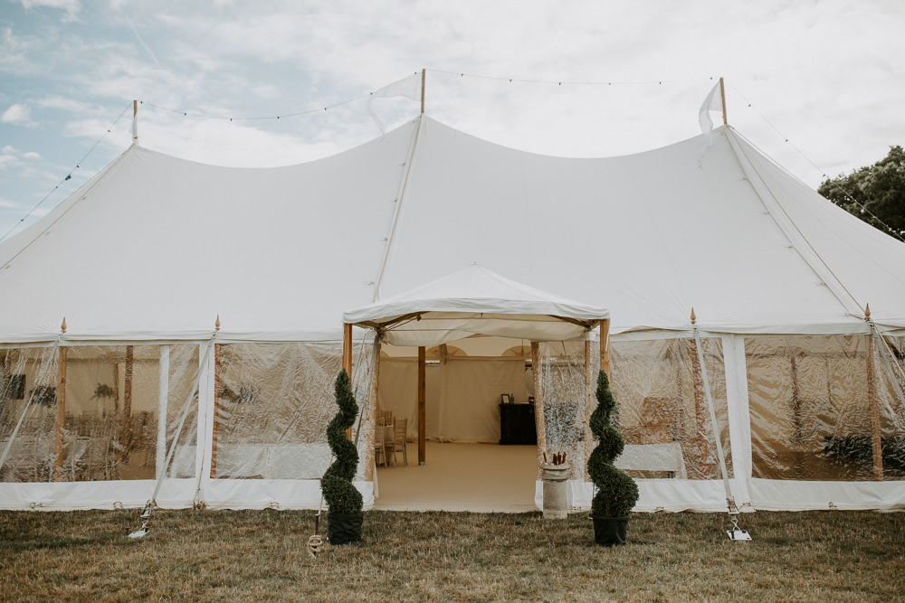 Hay Bales Pole Tent City Cathedral Country Marquee Wedding Siobhan Beales Photography