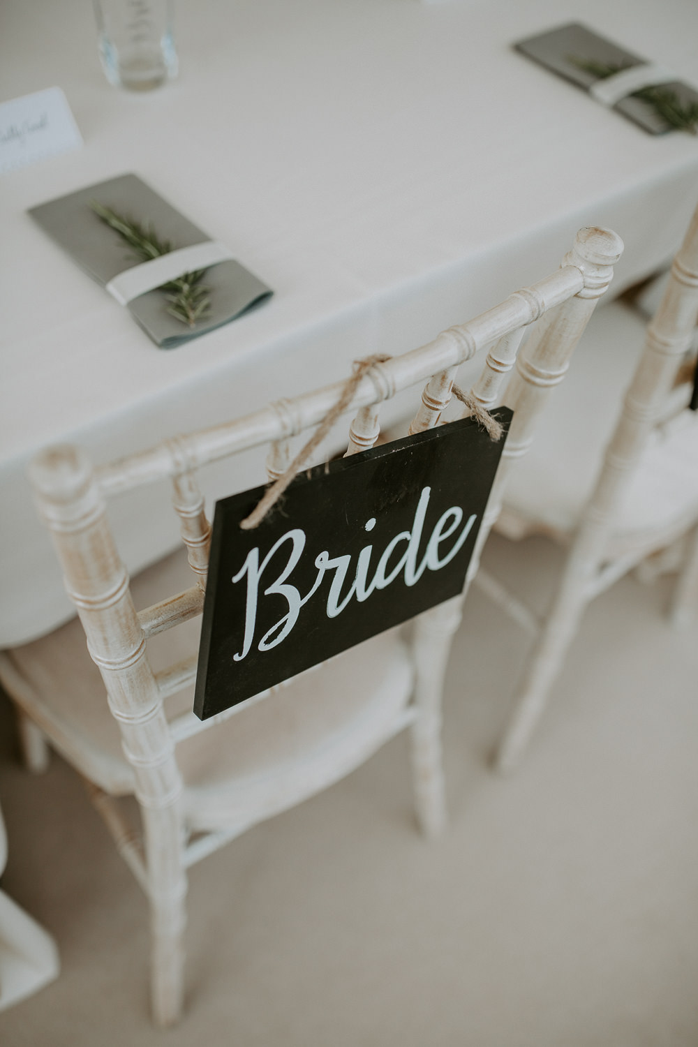 Chalk Black Board Chair Sign City Cathedral Country Marquee Wedding Siobhan Beales Photography