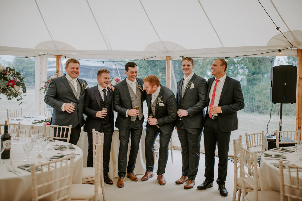 Groomsmen Suits City Cathedral Country Marquee Wedding Siobhan Beales Photography