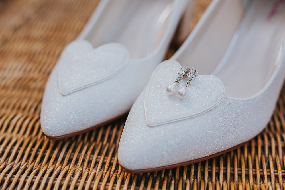 Heart Glitter Shoes Bride Bridal Colourful Tipi Wedding Charlotte Razzell Photography