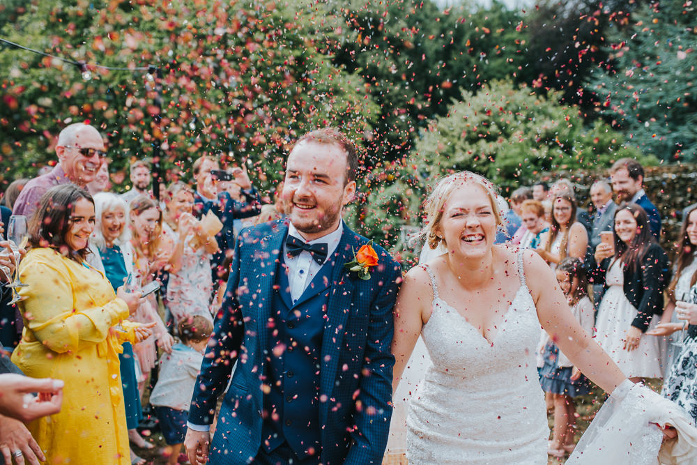 Confetti Throw Colourful Tipi Wedding Charlotte Razzell Photography
