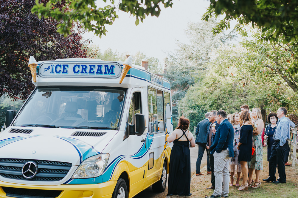 Ice Cream Van Truck Colourful Tipi Wedding Charlotte Razzell Photography