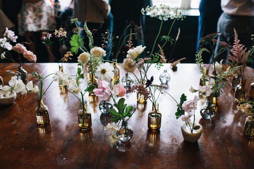 Bud Vases Seasonal Anemone Long Stem East London Leytonstone Wedding Robbins Photographic