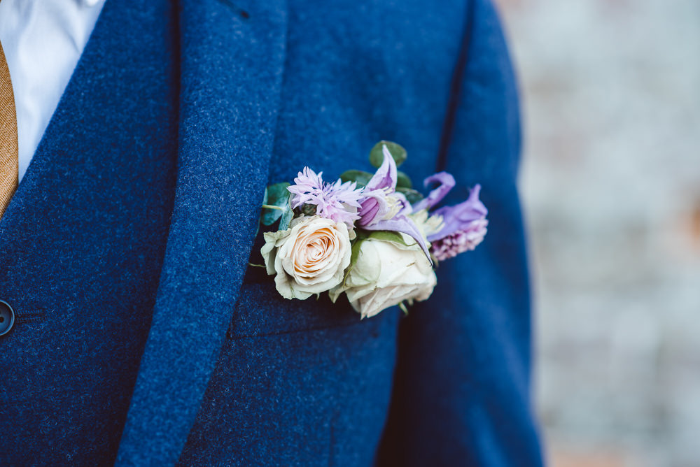 Buttonhole Flowers Groom Peach Rose Ethereal Magical Golden Hour Wedding Ideas Dhw Photography