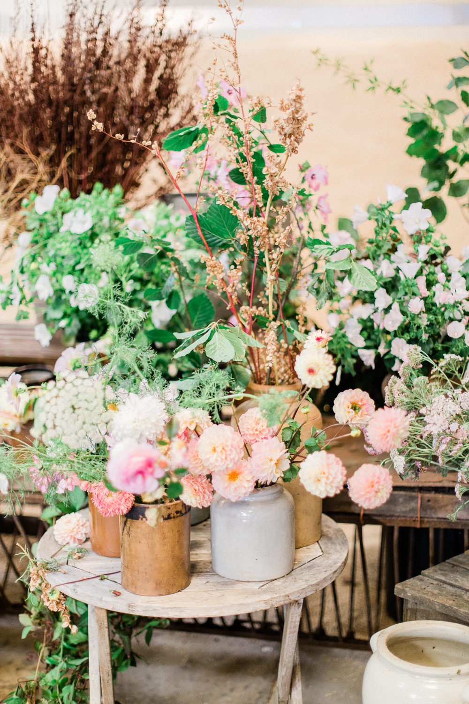 Peach Apricot Pink Blush Dahlias Flowers Decor Fine Art Farm Wedding Ideas Seyi Rochelle Photography