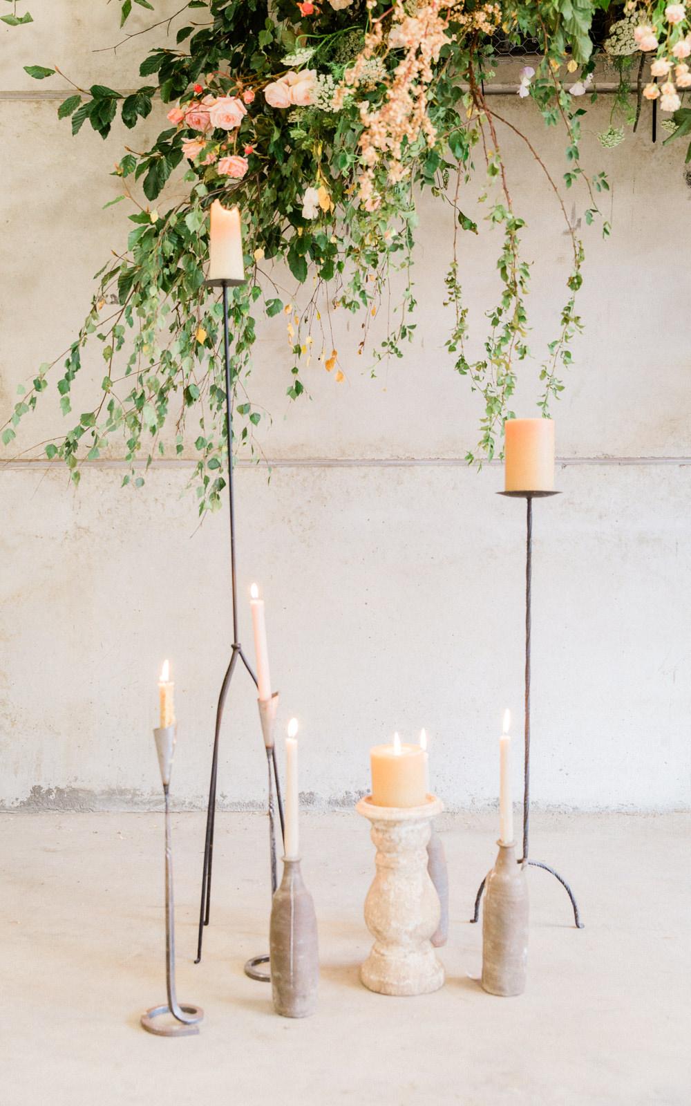 Candles Flowers Decor Tall Pillar Fine Art Farm Wedding Ideas Seyi Rochelle Photography
