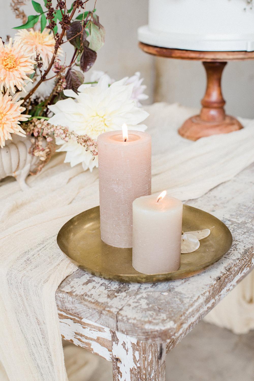 Pillar Candles Tray Decor Fine Art Farm Wedding Ideas Seyi Rochelle Photography