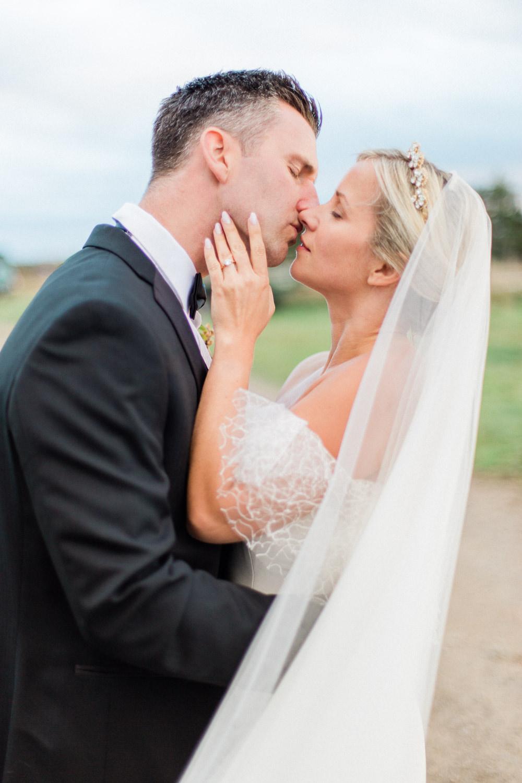Bride Bridal Veil Accessory Tulle Fine Art Farm Wedding Ideas Seyi Rochelle Photography