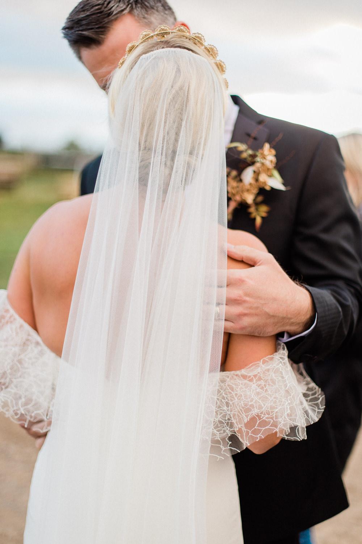 Bride Bridal Veil Accessory Tulle Hair Style Up Do Fine Art Farm Wedding Ideas Seyi Rochelle Photography