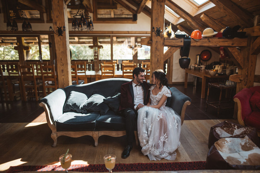 French Alps Folk Boho Mountain Wedding Ideas Katja & Simon Photography