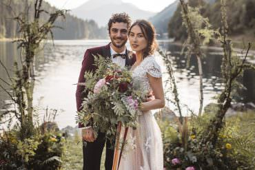 Folk & Boho Style Mountain Wedding Ideas in the French Alps
