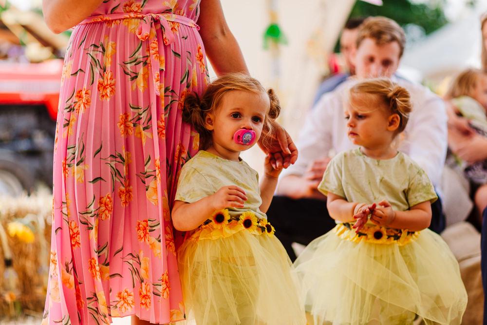 Sunflower Dress Flower Girl Skirt Tutu Fun Colourful Festival Camp Wedding Rachel Burt Photography