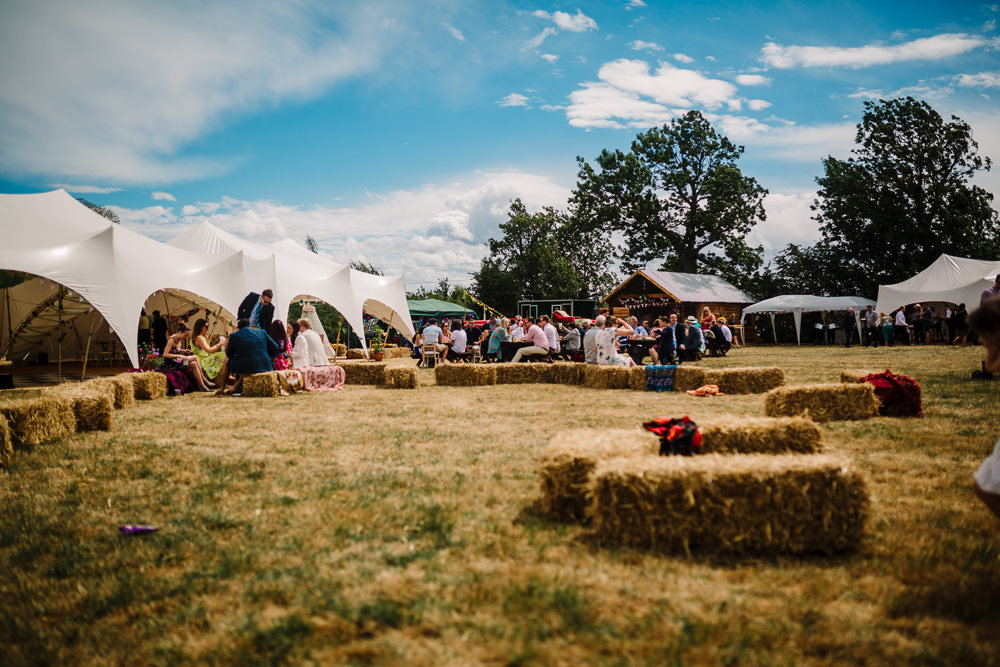 Fun & Colourful Festival Camp Wedding