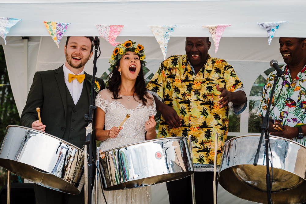 Fun Colourful Festival Camp Wedding Rachel Burt Photography