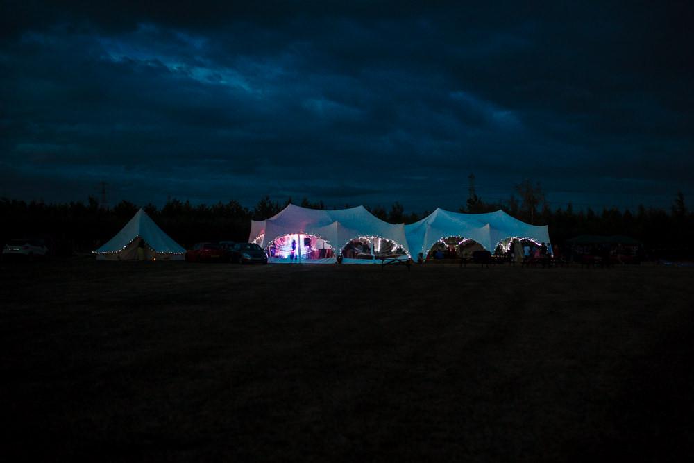 Stretch Tent Marquee Field Fun Colourful Festival Camp Wedding Rachel Burt Photography