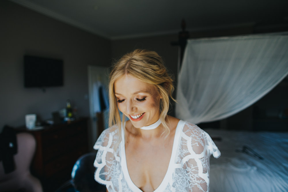 Choker Necklace Grace Loves Lace Dress Gown Bride Bridal Sleeves Neckline Bohemian Godwick Great Barn Wedding Joshua Patrick Photography