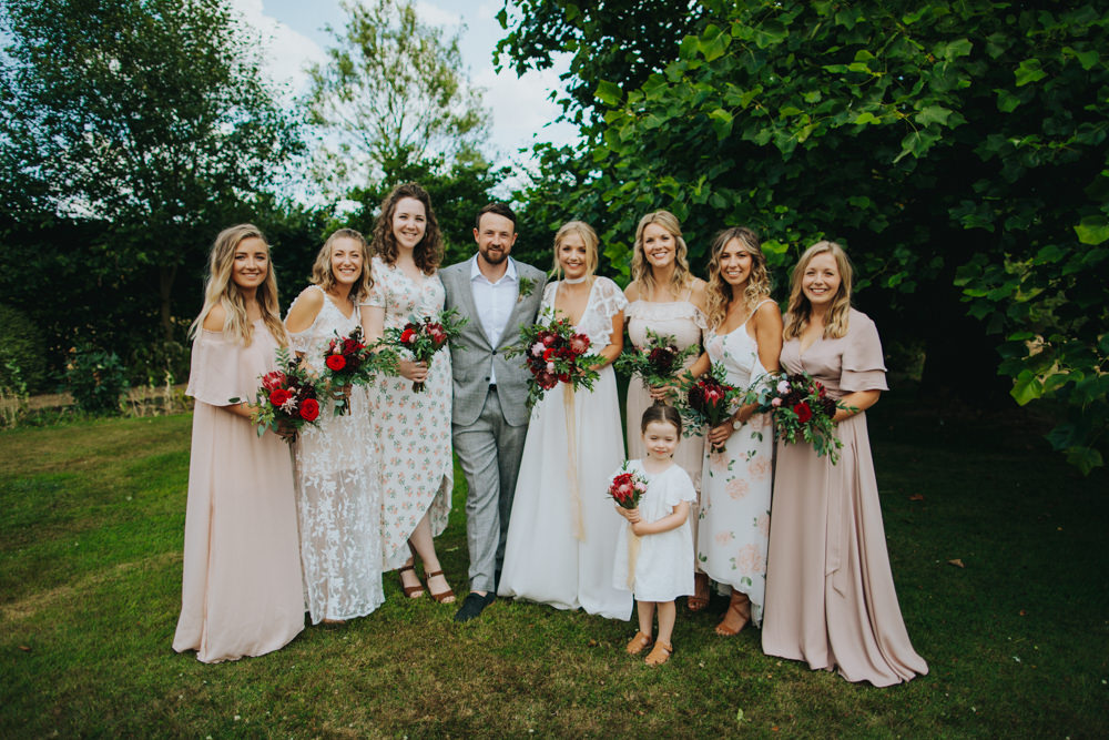 Bridesmaid Dress Dresses Mismatched Blush Pink Godwick Great Barn Wedding Joshua Patrick Photography