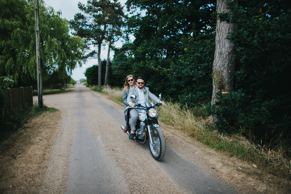 Motorbike Transport Godwick Great Barn Wedding Joshua Patrick Photography