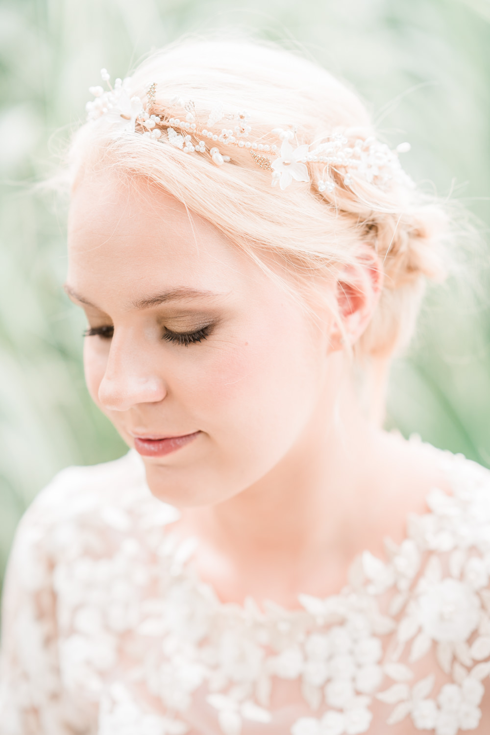Bride Bridal Hair Up Do Accessory Golden Autumnal Wedding Ideas Joanna Briggs Photography