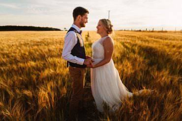 Gorgeous & Sunny Countryside Farm Wedding
