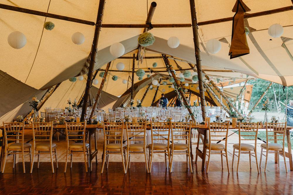 Tipi Paper Lantern Hobbit Hill Wedding Stevie Jay Photography