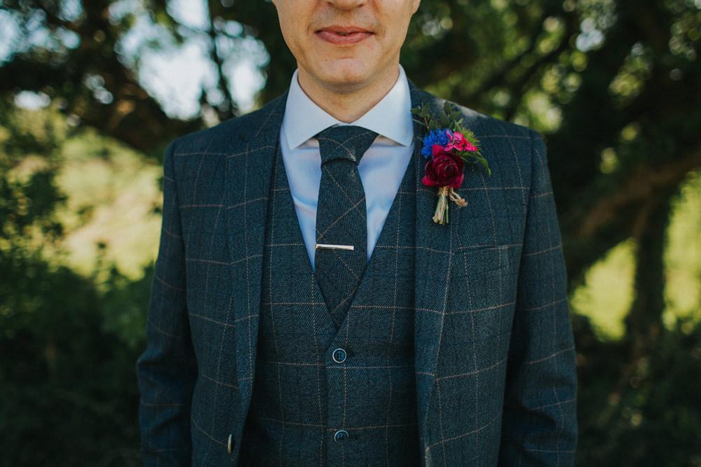 Three Piece Suit Waistcoat Groom Tweed Minnehaha Events Wedding Lisa Webb Photography