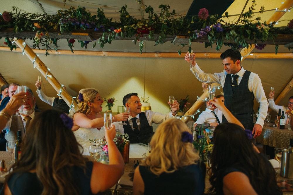 Tipi Greenery Floral Flowers Minnehaha Events Wedding Lisa Webb Photography