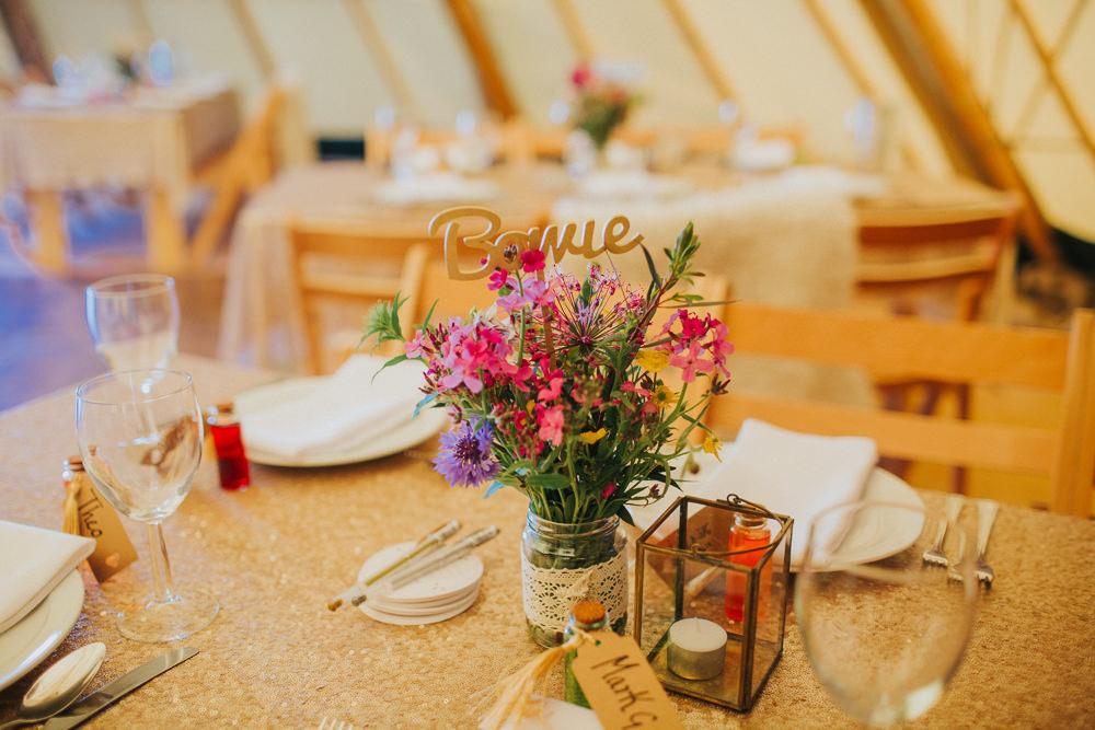 Laser Cut Table Name Jam Jar Flowers Minnehaha Events Wedding Lisa Webb Photography
