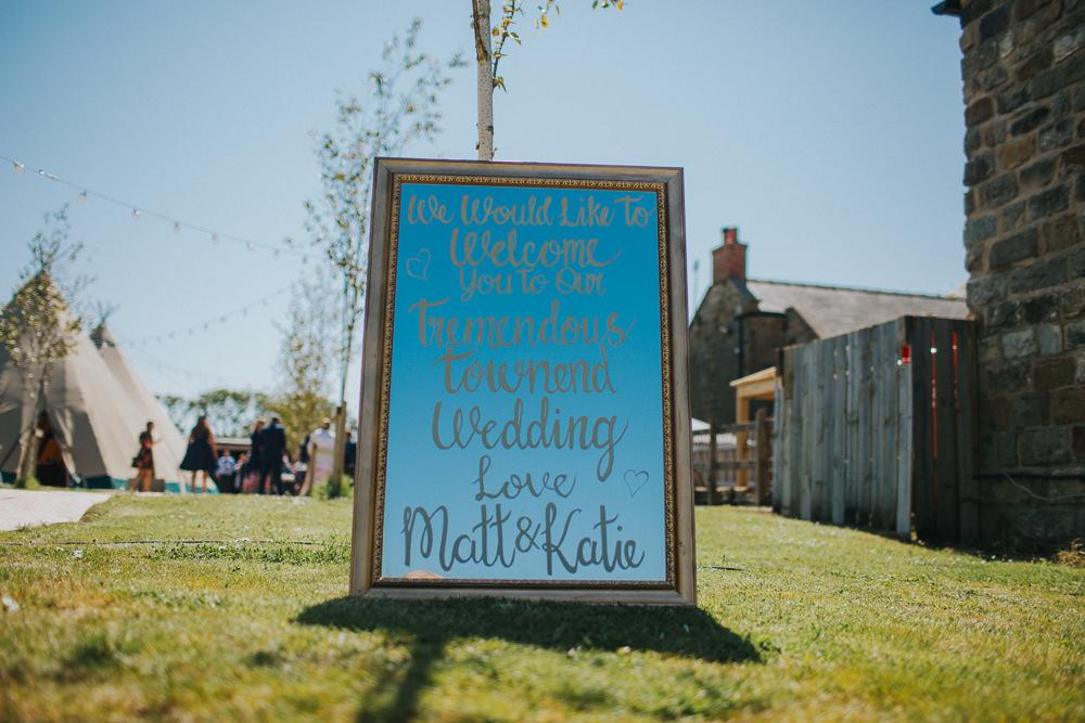 Sign Writing Mirror Welcome Minnehaha Events Wedding Lisa Webb Photography