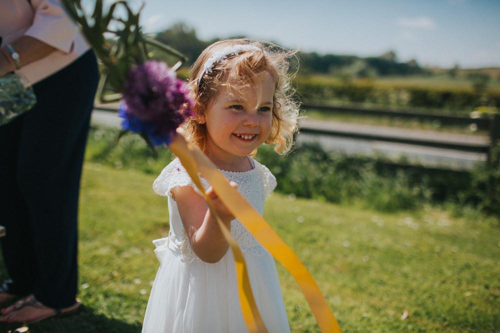 Flower Girl Wand Ribbon Minnehaha Events Wedding Lisa Webb Photography