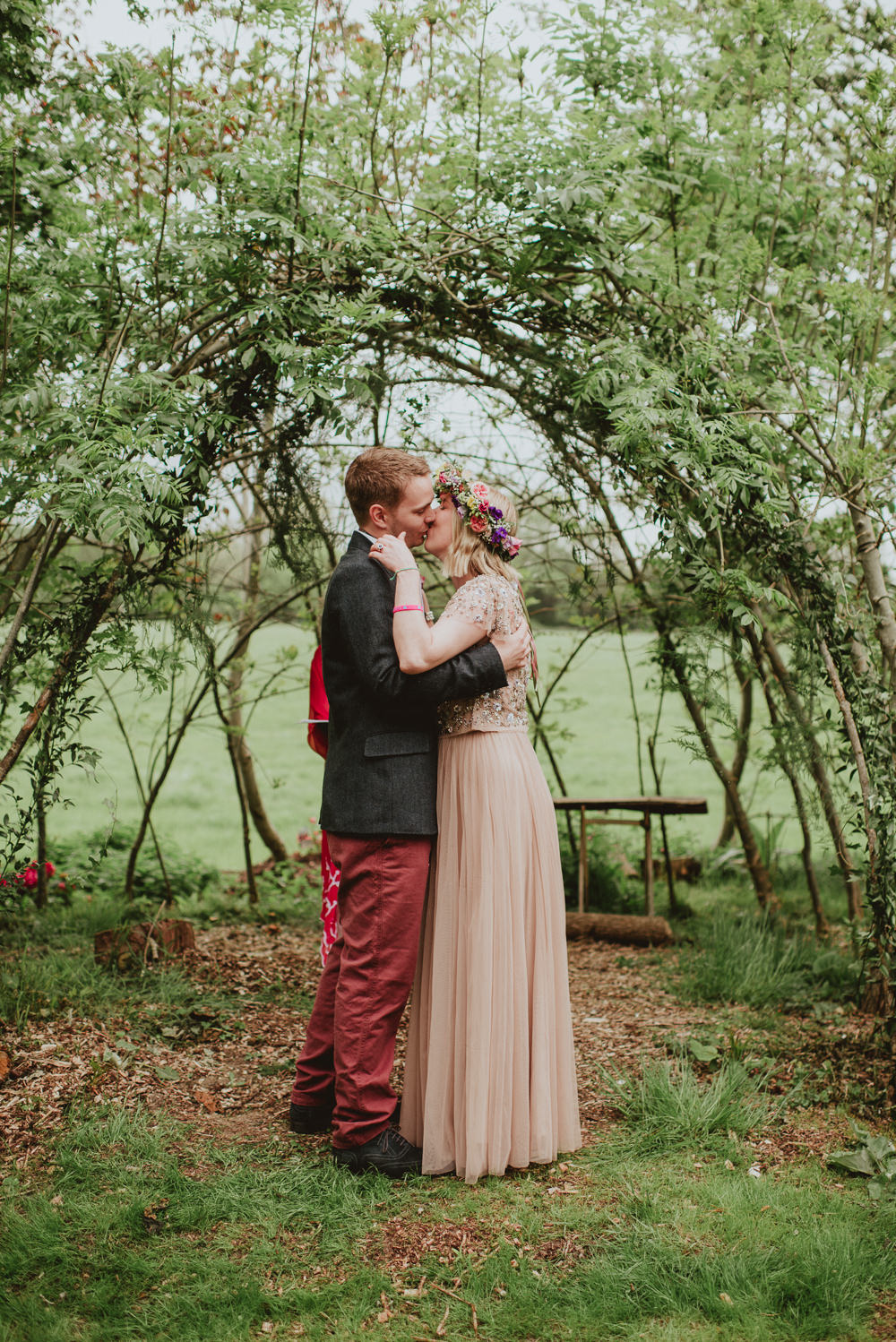Ceremony Backdrop Willow Hazel Greenery Branches Outdoor Plush Tents Glamping Wedding Big Bouquet Photography