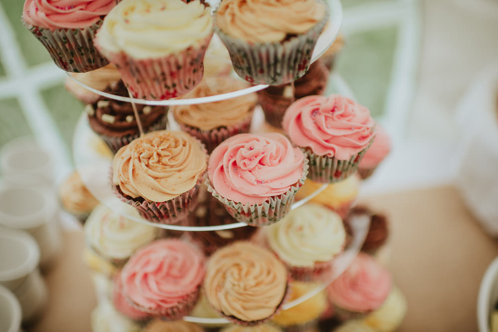 Cupcake Tower Plush Tents Glamping Wedding Big Bouquet Photography