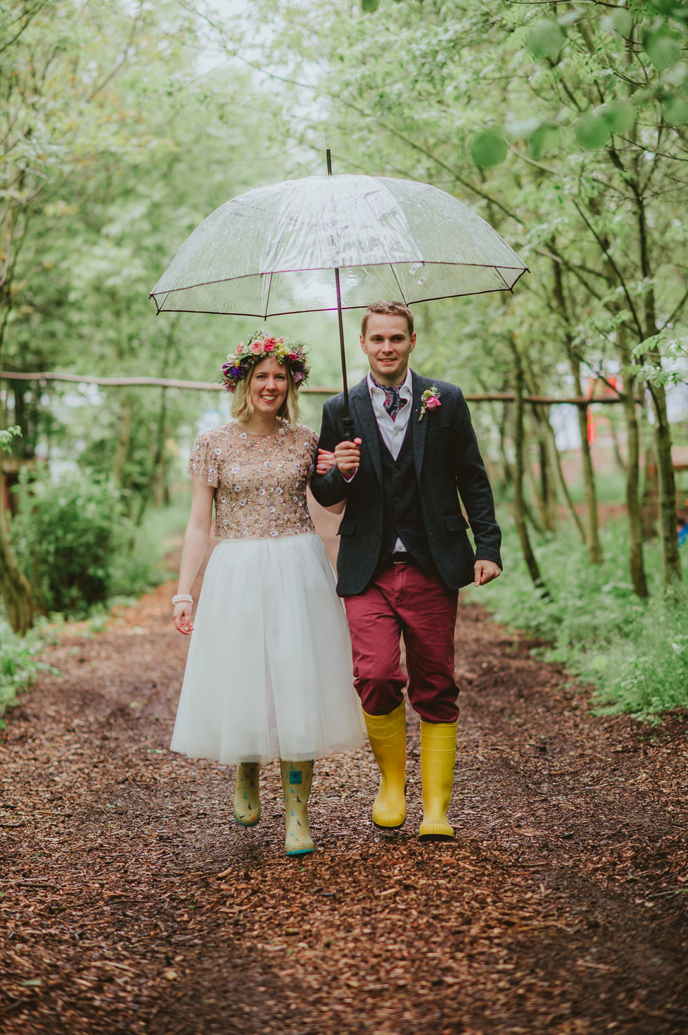 Silk Scarf Groom Suit Blue Jacket Red Trousers Waistcoat Wellies Plush Tents Glamping Wedding Big Bouquet Photography