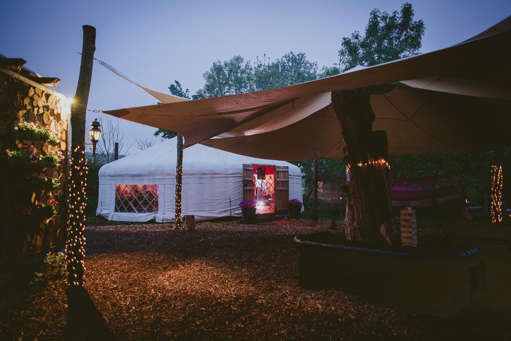 Yurt Plush Tents Glamping Wedding Big Bouquet Photography