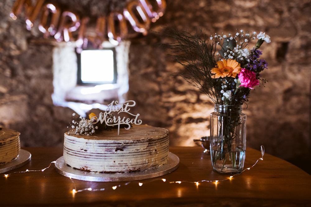 Naked Semi Cake Table Windmill Barn Wedding Pocket Square Photography