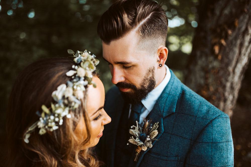 Groom Style Hair Beard Windmill Barn Wedding Pocket Square Photography