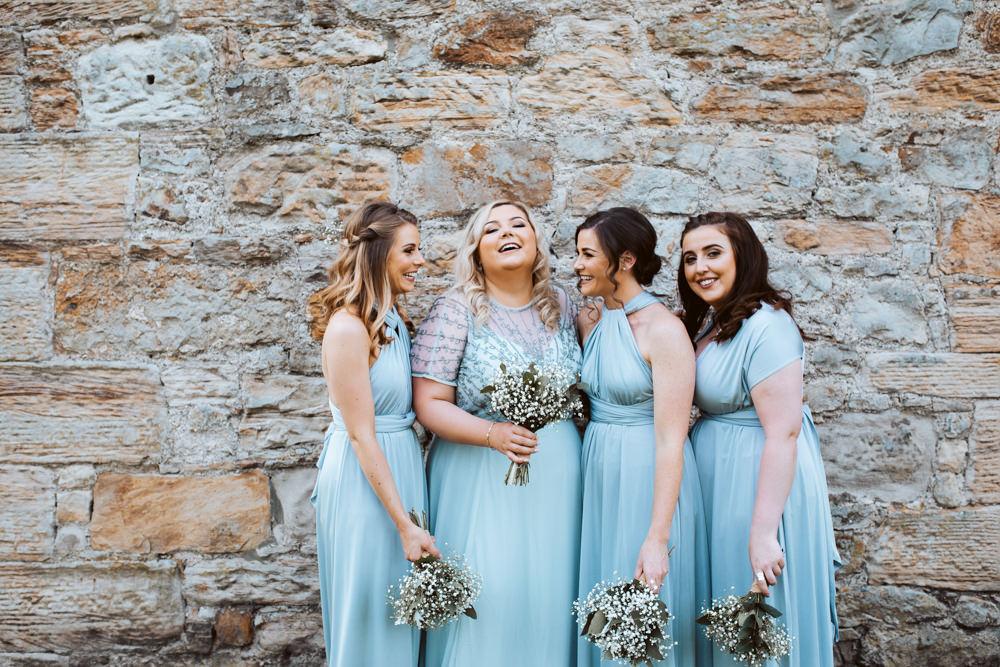 Bridesmaid Dressses Long Maxi Blue Windmill Barn Wedding Pocket Square Photography