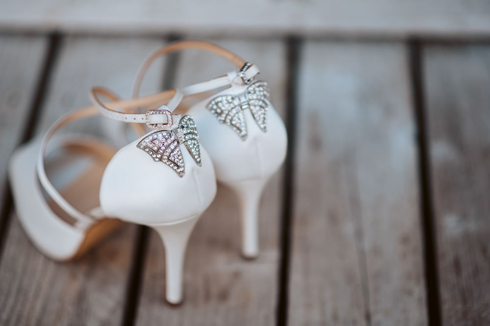 Shoes Bride Bridal Diamante Bow Windmill Barn Wedding Pocket Square Photography