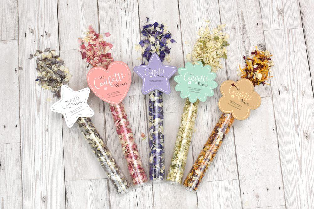 Shropshire Petals Confetti Wand (five designs)