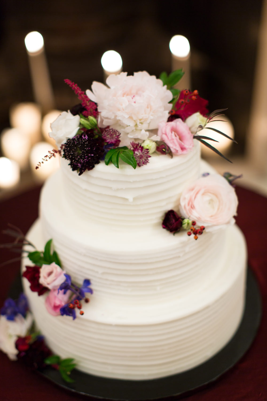 Buttercream Iced Cake Flowers Stotesbury Mansion Wedding Mariya Stecklair Photography