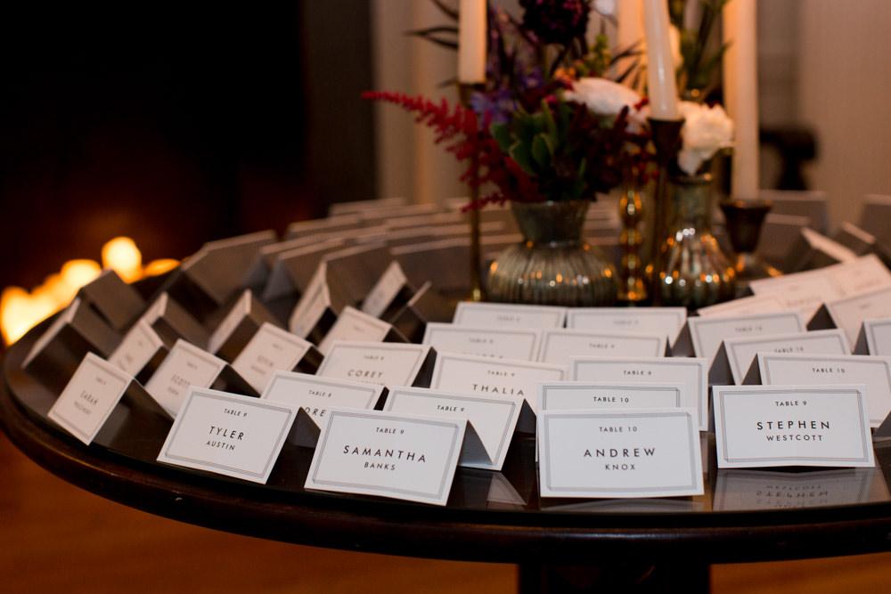 Escort Cards Stotesbury Mansion Wedding Mariya Stecklair Photography