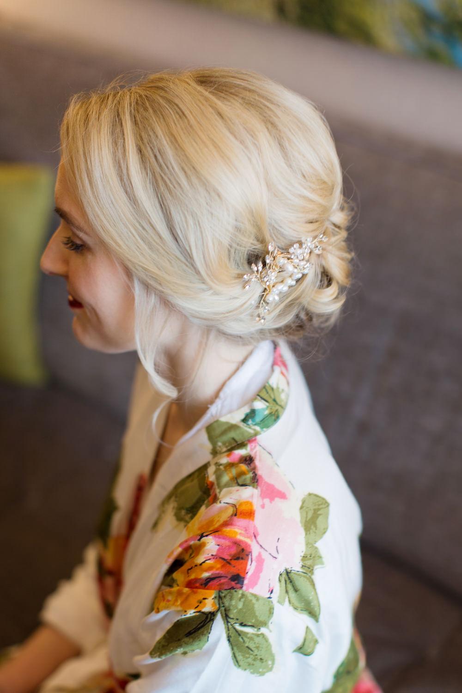 Bride Bridal Hair Up Do Style Accessory Stotesbury Mansion Wedding Mariya Stecklair Photography