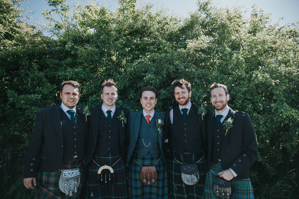 Kilt Groom Groomsmen Strawberry Barn Wedding Jen Owens Images