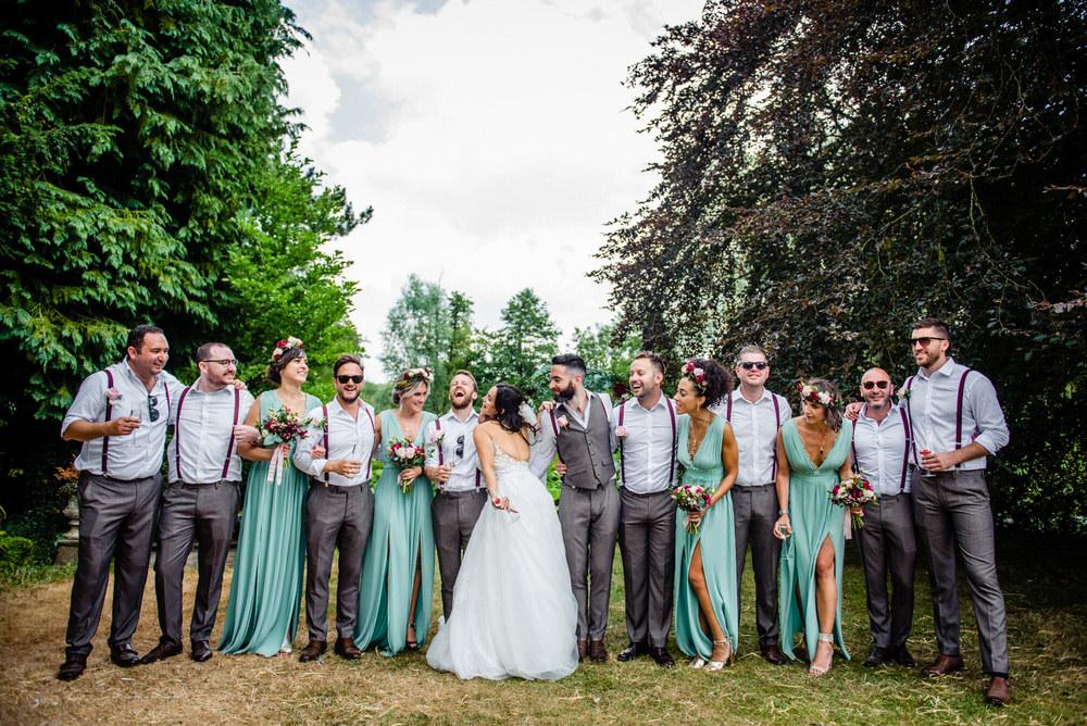 Bridesmaids Bridesmaid Dress Dresses Green Flower Crowns Headbands West Lexham Wedding James Powell Photography