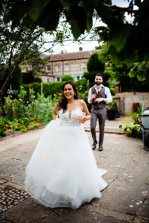 Bride Bridal Dress Gown Illusion Lace Essense of Australia West Lexham Wedding James Powell Photography