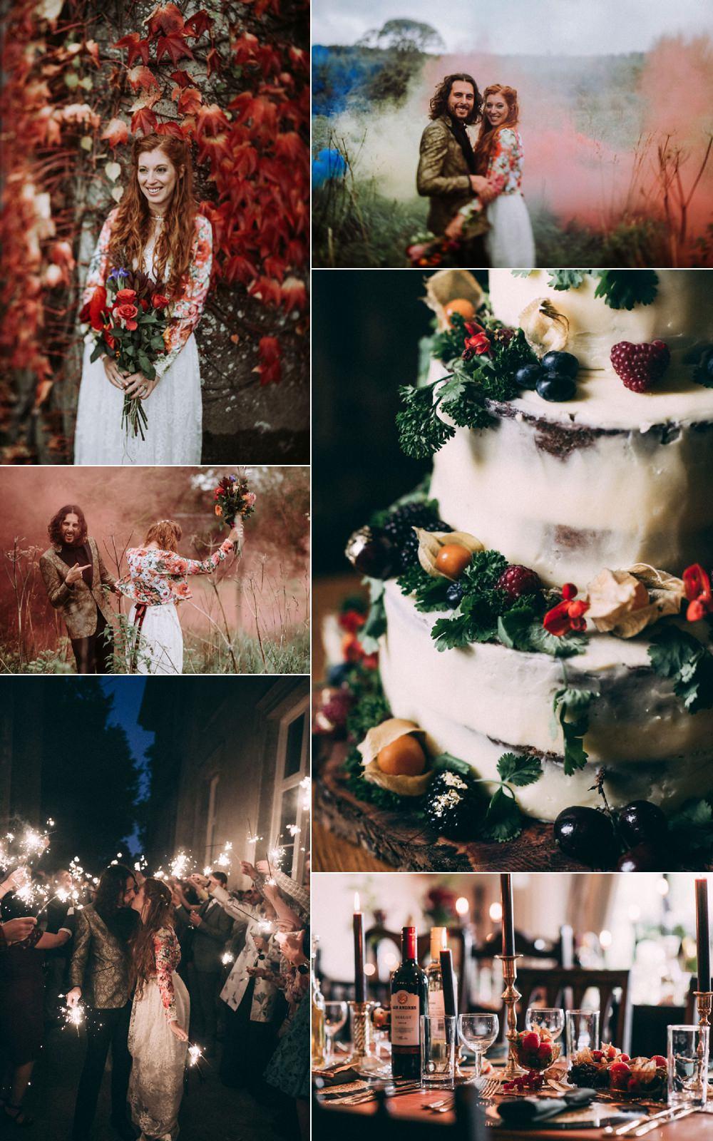 Opulent Eccentric Berry & Gold Wedding Matt Austin Images