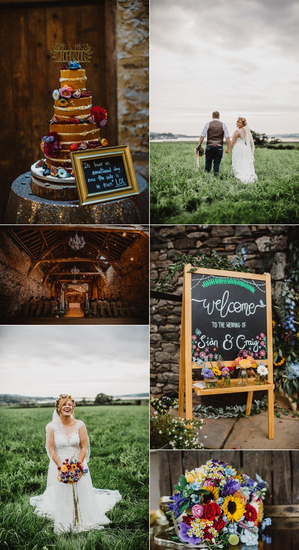 Colourful DIY Floral Luxe Barn Wedding Joe Mather Photography
