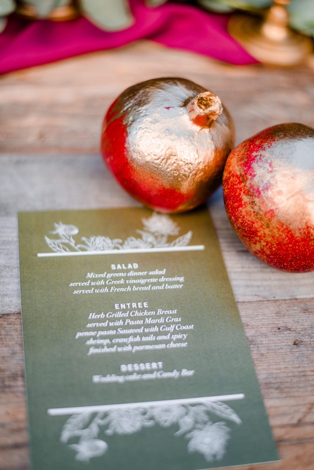 Menu Stationery Fruit Autumnal Fairytale Wedding Ideas Miriam Peuser Photography