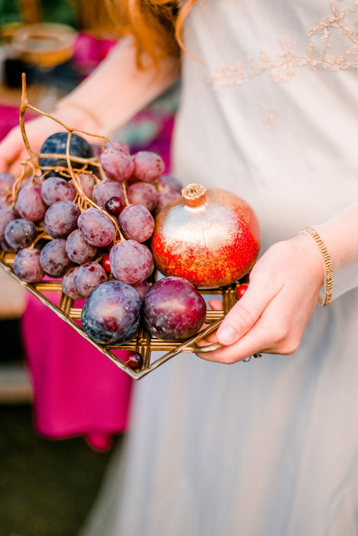 Fruit Tray Autumnal Fairytale Wedding Ideas Miriam Peuser Photography